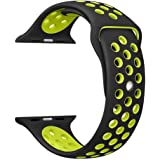 For Apple Watch Nike Band Sports Soft Silicone Replacement Band For Apple Watch Series 3, Series 2, Series 1, Nike +, Sport, Edition, M/L Size