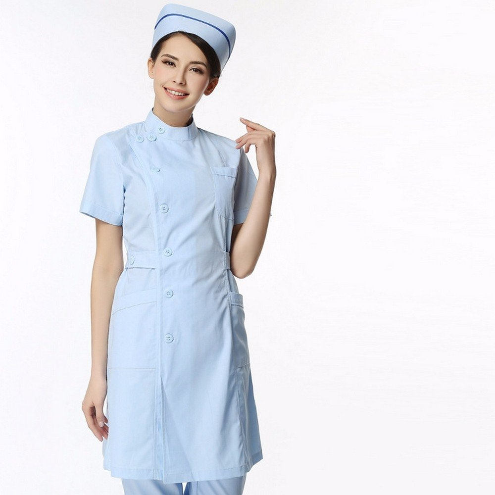 Xuanku Médicos, Enfermeras, Enfermeros, Médicos, Ropa, Batas Blancas, Laboratorio Médico Ropa, M, Azul: Amazon.es: Ropa y accesorios