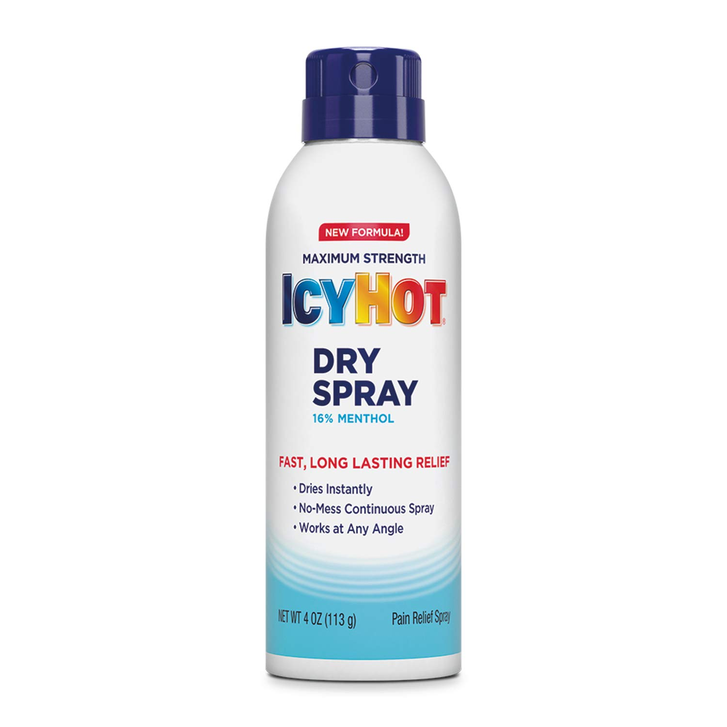 Icy Hot Pain Relief Dry Spray, Maximum Strength with Menthol, 4 Ounces