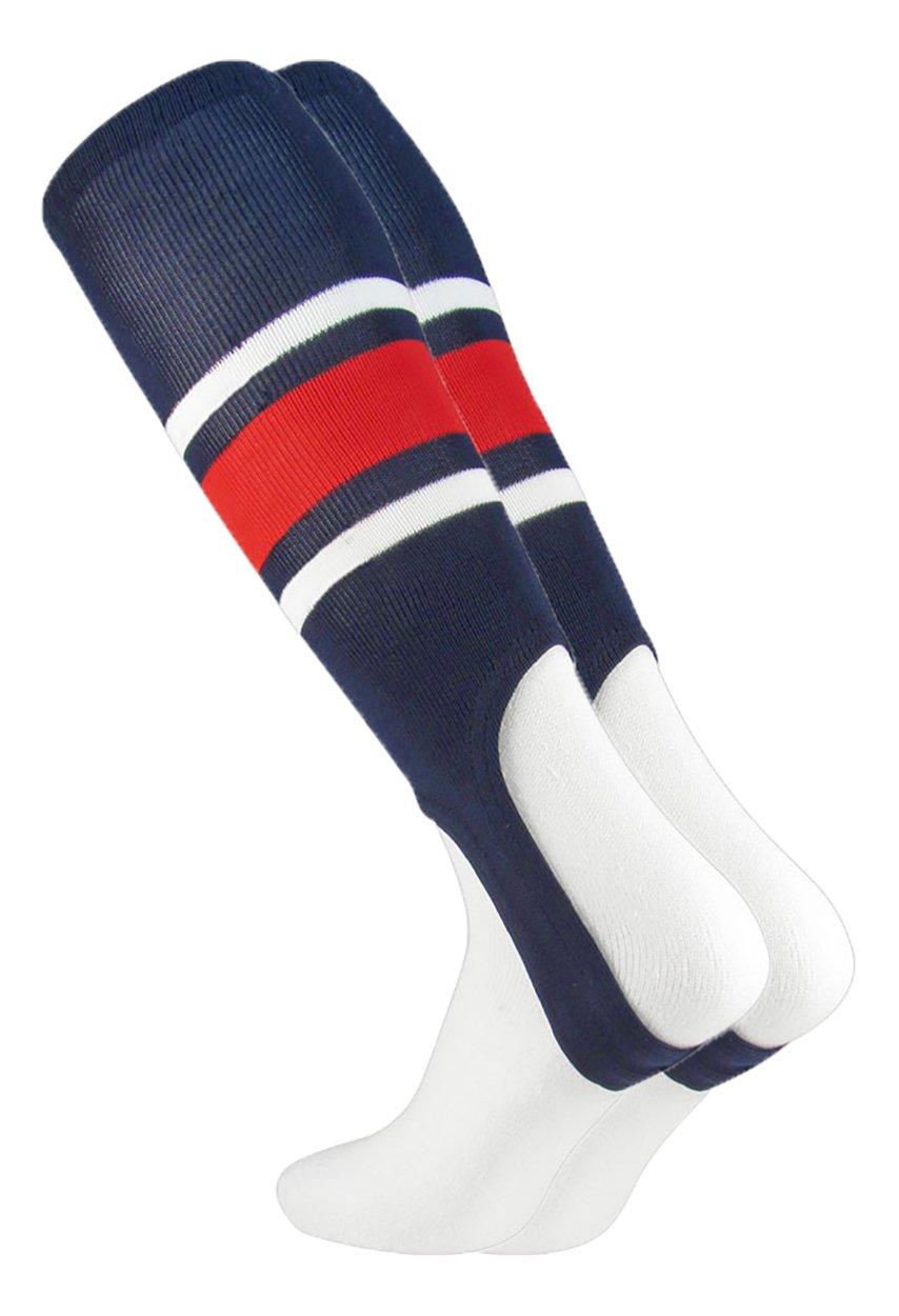 MadSportsStuff野球Stirrups by TCK (パターンE ) 3ストライプ B07BFT7D23 Medium|Navy/Scarlet/White Navy/Scarlet/White Medium