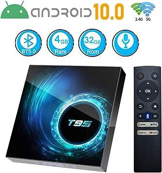 Caja de TV Android 10.0, T95 Android Box 4 GB RAM 32 GB Rom Allwinner Quad