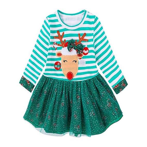 Fossen Disfraz Navidad Niña 1-5 años Tutu Vestidos de Elk a ...