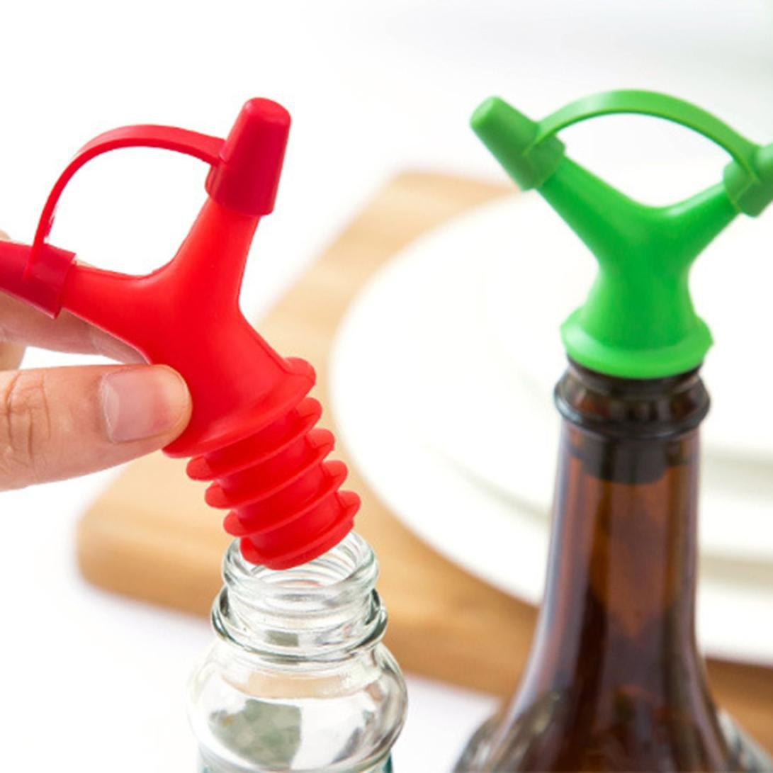 Clearance Sale!DEESEE(TM)Double Head Leakproof Soy Sauce Bottle Mouth Stuffed Vinegar Bottle Stopper (Green) by DEESEE(TM)_Home (Image #3)