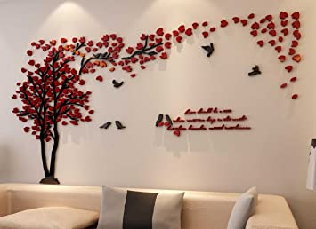 3d Couple Tree Wall Murals for Living Room Bedroom Sofa Backdrop Tv Wall  Background, Originality Stickers Gift, DIY Wall Decal Home Decor Art ...