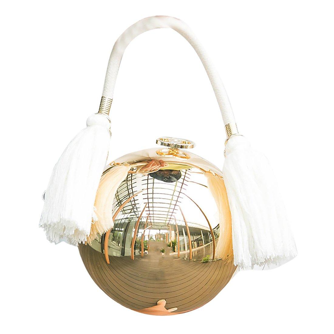 Round Ball Clutch Purse Evening Bag Shoulder Handbag