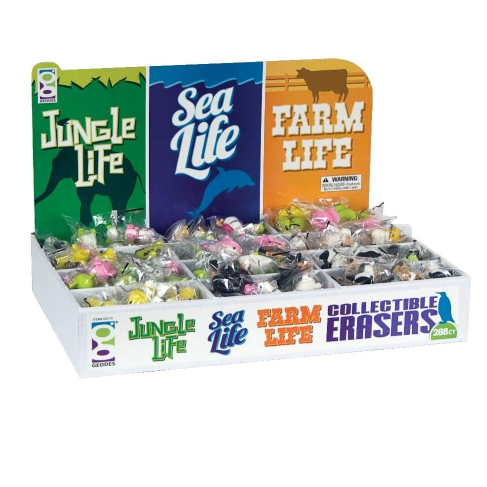 Raymond Geddes Jungle Sea & Farm Life Collectible Erasers, 288 Pack (68510) by Raymond Geddes (Image #6)