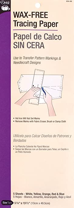 Amazon.com: Dritz Wax Free Tracing Paper, Assorted: Arts, Crafts ...