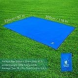Oxford Fabric 4-5 Men Footprint Ground Sheet Tent Tarp Mat Canopy (9'10'' x 7'3'') Waterproof For Camping Hiking Picnic Fishing