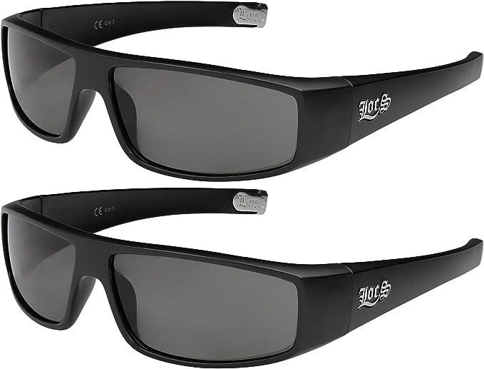 2er Pack Choppers 911 Locs Fahrradbrille Sonnenbrille Männer Frauen schwarz grau
