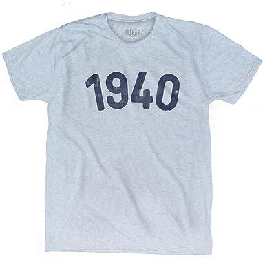 Amazon com: 1940 Year Celebration Adult Tri-Blend T-shirt