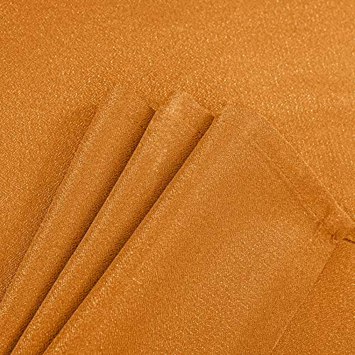 DWCN Semi Sheer Curtains Sunlight Filtering Country Modern Style Draperies 8 Grommets Window Orange Curtain 52x63 inch Long Set of 2 Faux Linen Panels for Living Room by DWCN (Image #5)
