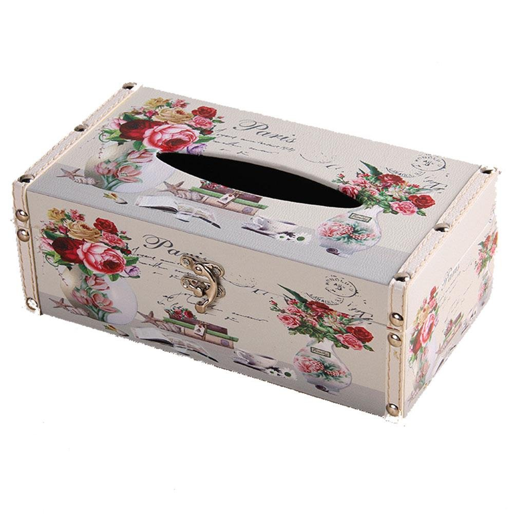 Rectangular PU Leather Facial Tissue Box Home Office Decor , suits 2 , 24138.5