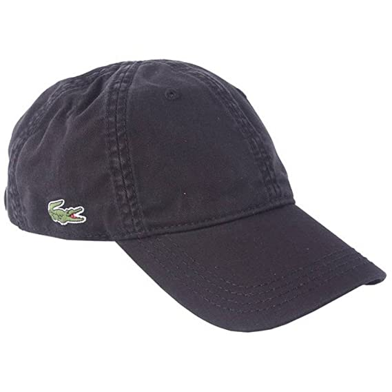 ca813bfd21632 Lacoste Mens Plain Cap - Black  Amazon.co.uk  Clothing