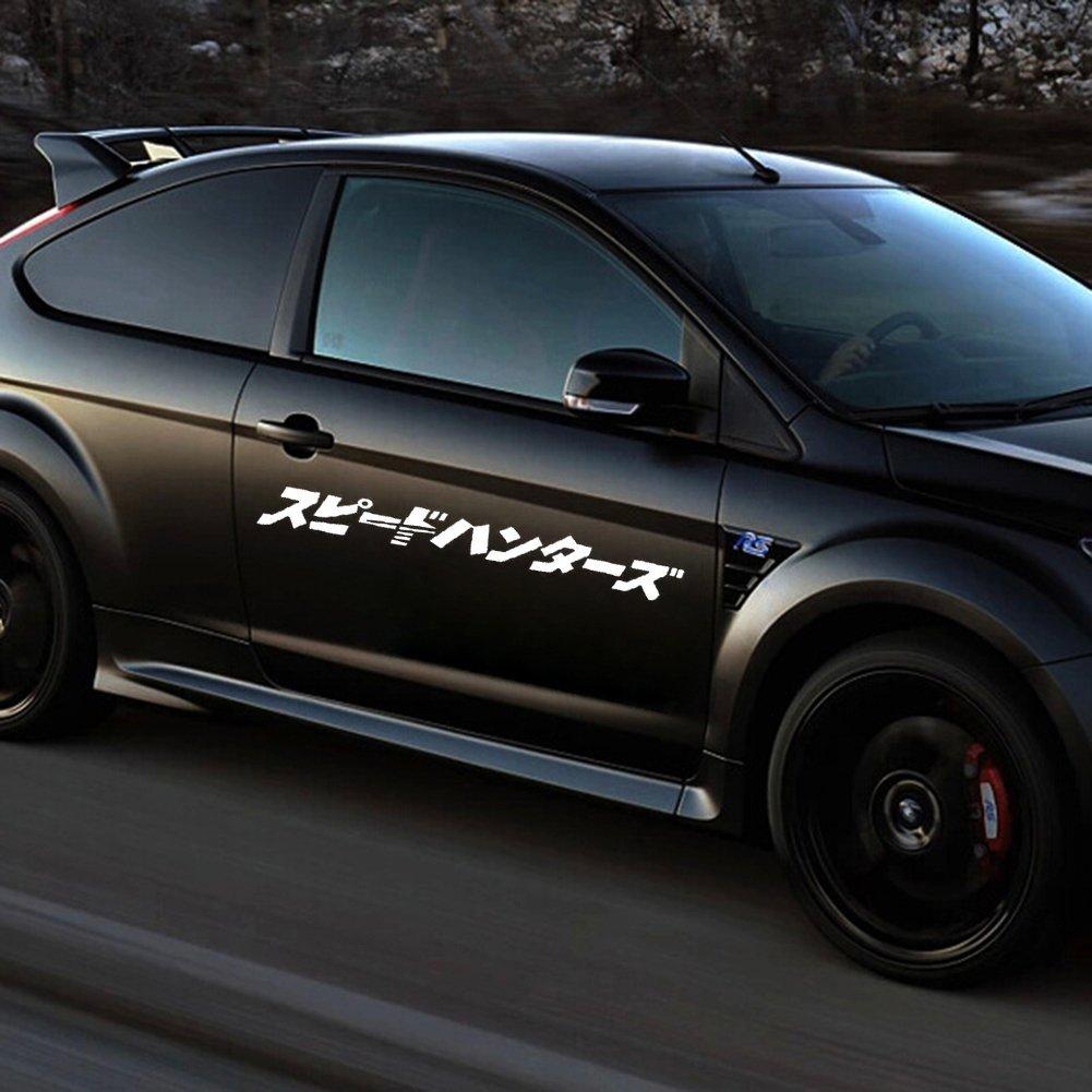CFHJN HOME Japonais JDM Speedhunter autocollant de voiture phare capot autocollants r/éfl/échissants d/écor pour ordinateur portable planche /à roulettes snowboard bagages valise MacBook voiture v/élo pare