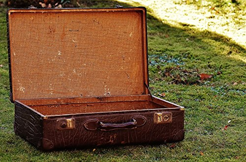 Antique Leather Luggage (LAMINATED POSTER Luggage Old Suitcase Antique Leather Junk Poster Print 24 x 36)