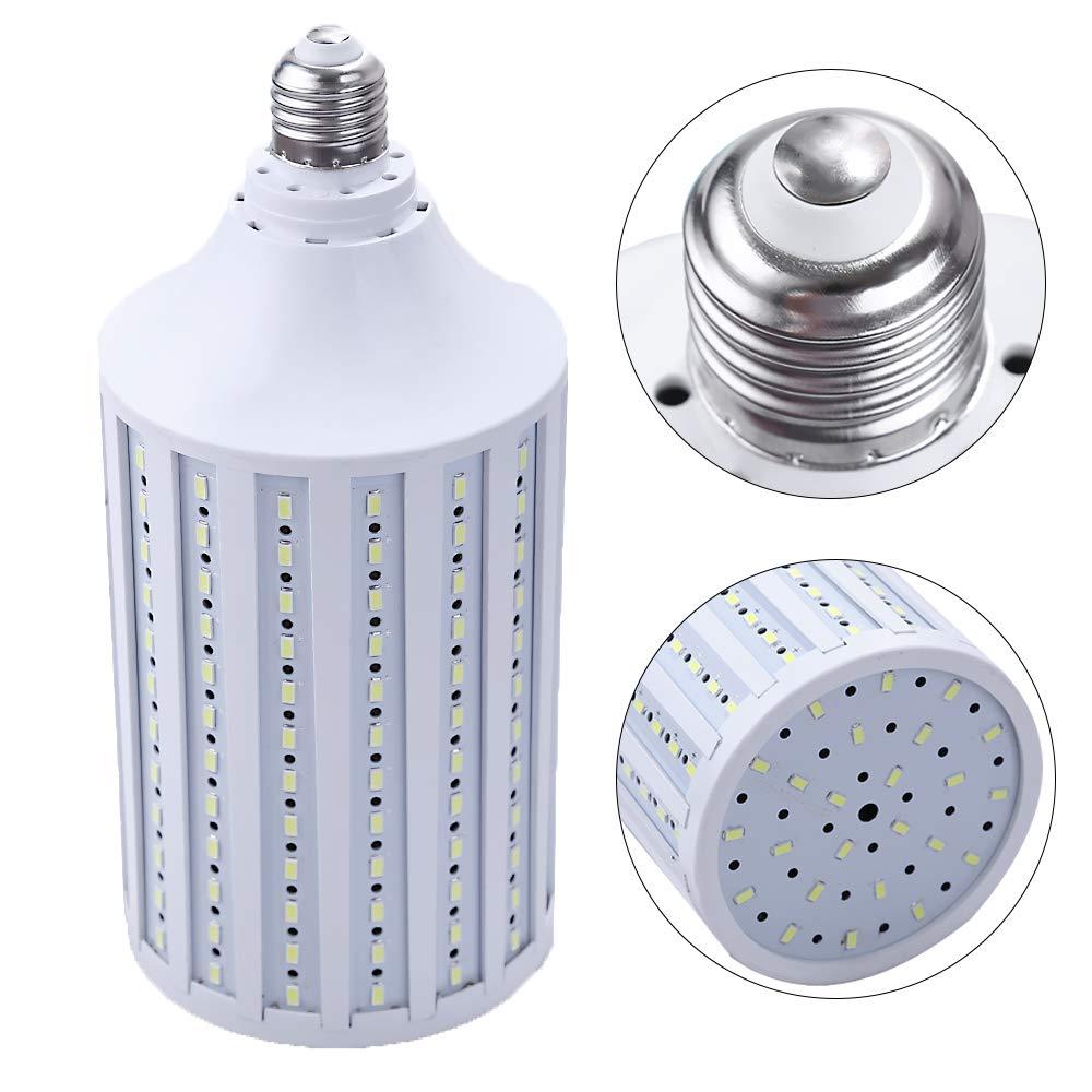 スーパーブライト コーン型電球 300W LED電球 216チップ E26 5000ルーメン クールデイライト ホワイト 6000K ワークショップ 地下室 ポーチ用   B07MHT3TWB