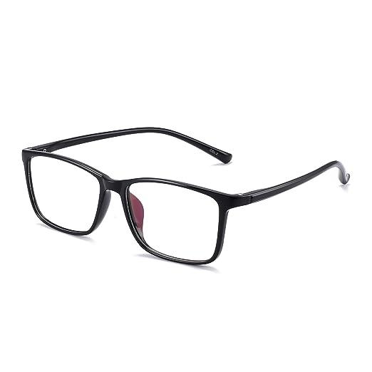 a813e581905 Retro Light TR Rectangular Optical Frame Rx-able Eyeglasses Glasses Women  Men Black