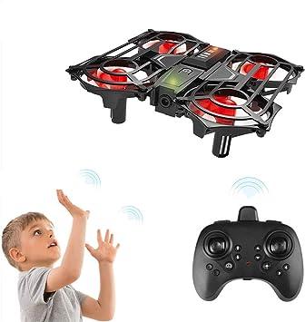 Opinión sobre Achort Mini Drone para Niños y Principiantes, Mini RC Drone Quadrotor 2.4G 4CH Giroscopio de 6 Ejes helicoptero con Luz LED, Volteretas 3D, Modo sin Cabeza, Un Botón de Despegue y Aterrizaje