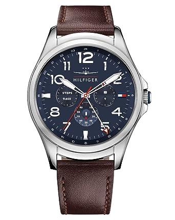 Tommy Hilfiger Reloj Hombre de Digital con Correa en Cuero 1791406: Amazon.es: Relojes
