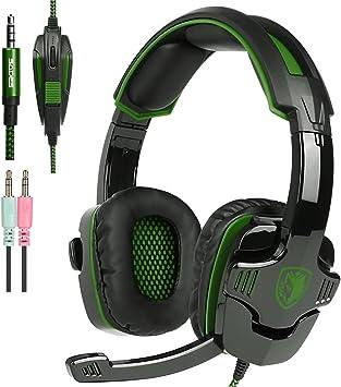 Nuevo Xbox One PS4 Auriculares para Gamers con Micrófono Control del Volumen, SADES SA930 Auriculares Estéreo para PC Ordenador Portátil Mac Tableta Smartphone por AFUNTA: Amazon.es: Electrónica