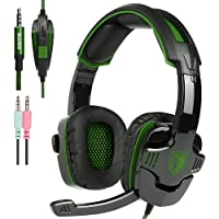 New Xbox one PS4 Gaming Headset with Mic Volume Control, SADES SA930 Stereo Headphone Compatible Mac PC Laptop Tablet Smartphone by AFUNTA-Black/Green