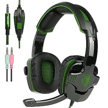 Nuevo Xbox One PS4 Auriculares para Gamers con Micrófono Control del Volumen, SADES SA930 Auriculares