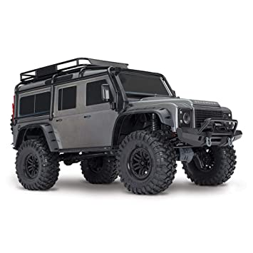 YYD RC Todoterreno TRX-4 Land Rover Defender 1/10 Control Remoto simulación Escalada Coche diferencial Bloqueo Marcha Alta y Baja tracción en Cuatro Ruedas ...