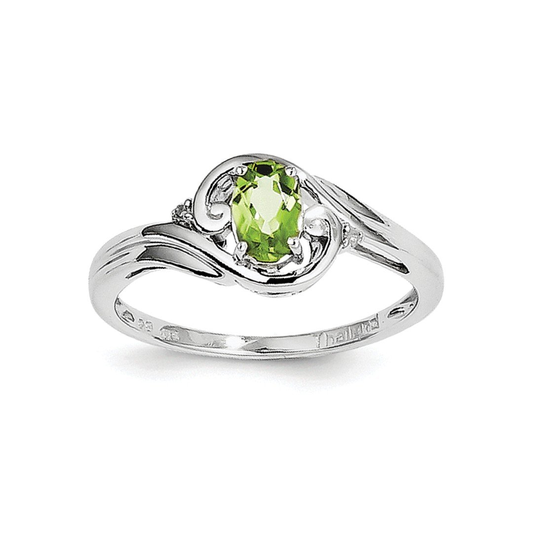 ICE CARATS 925 Sterling Silver Diamond Green Peridot Band Ring Size 7.00 Gemstone Fine Jewelry Ideal Gifts For Women Gift Set From Heart