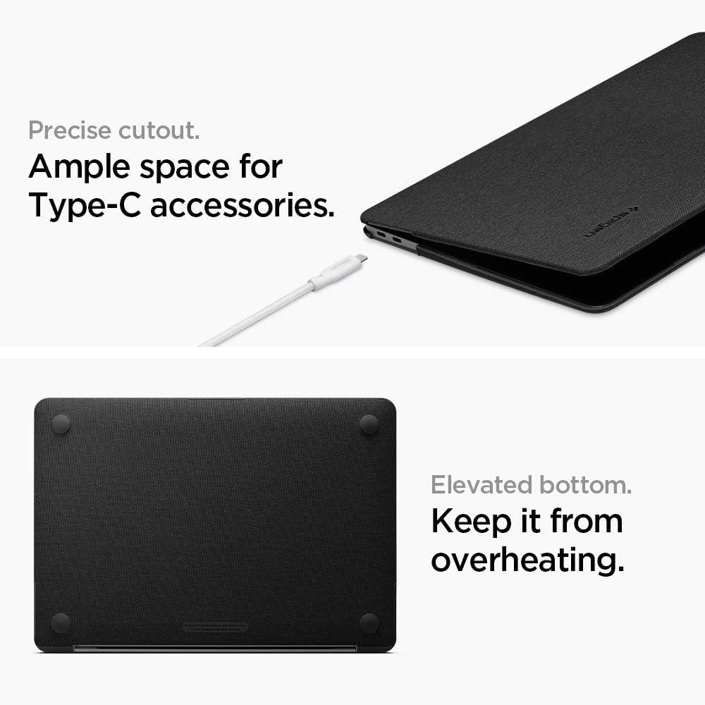 Spigen Thin Fit Compatibile con MacBook Air 13 Pollici A1932 Custodia 2019//2018 Nero