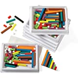 hand2mind Wooden Cuisenaire Rods Six-Tray Pack Kit, Spark Kids' Interest in Math with Hands-on Learning, (Grades K-8…