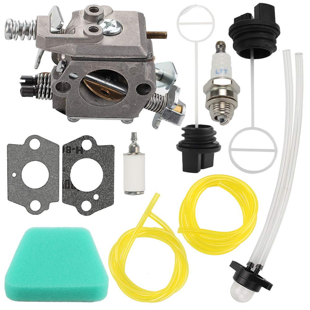 Mckin 545081885 Carburetor with Air Filter Oil Fuel Cap fits Poulan Wild Thing Woodshark Predator 1950 1975 2375 2375LE 2050 2055 2150 2075 2075C 2550 2025 2250 262 260 2550 PP260 Chainsaw Parts by Powtol