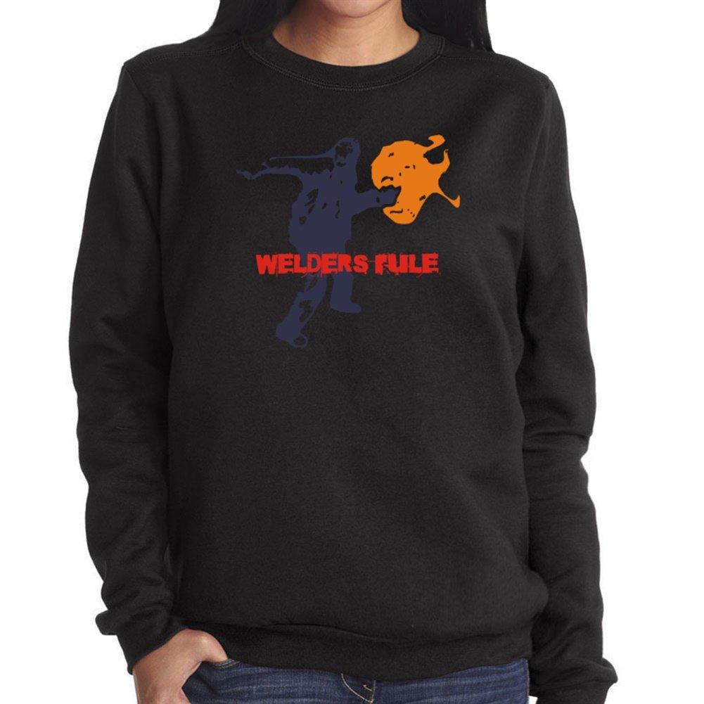 Soldador de Rule sudadera con capucha para mujer-camiseta negro medium: Amazon.es: Ropa y accesorios