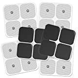 DONECO 2'' Square TENS Unit Electrodes, Snap On Pads 12 Pairs (24Pads) Electro Pads for TENS Therapy - Universally Compatible with Most TENS Machine Models - Self-Adhering, Reusable and Premium Quality