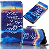 Samsung Galaxy S7 Edge Case, Bonice Magnetic Snap Flip Standing Wallet Case Ultra Slim Antiscratch Shockproof Protective Cover-Pattern 04