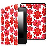 Fintie Slimshell Case for Kindle Paperwhite - The Thinnest and Lightest PU Leather Cover Auto Sleep/Wake for all-new Amazon Kindle Paperwhite (Fits all 2012, 2013, 2015 and 2016 Versions), Poppy