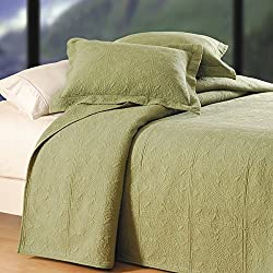 C&f Home Matelasse Cotton Quilt, Quilted Euro Sham, Sage Green, 26x26