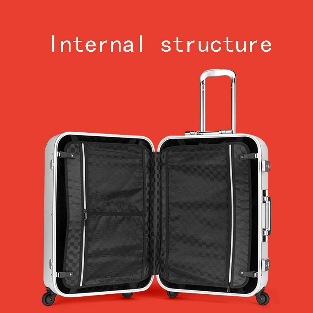 Color : Black, Size : 20 inches CLOUD Luggage Sets Travel Suitcase Male and Female Lightweight PC Air Carrier Trolley Case Lock 4 Wheels