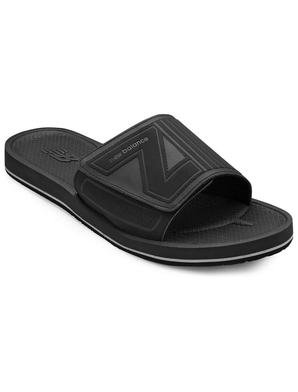 New Balance Mosie Slides (14 W, Black) by New Balance