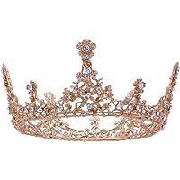 Frcolor koningin kroon, barok vintage bruiloft tiara en kroon