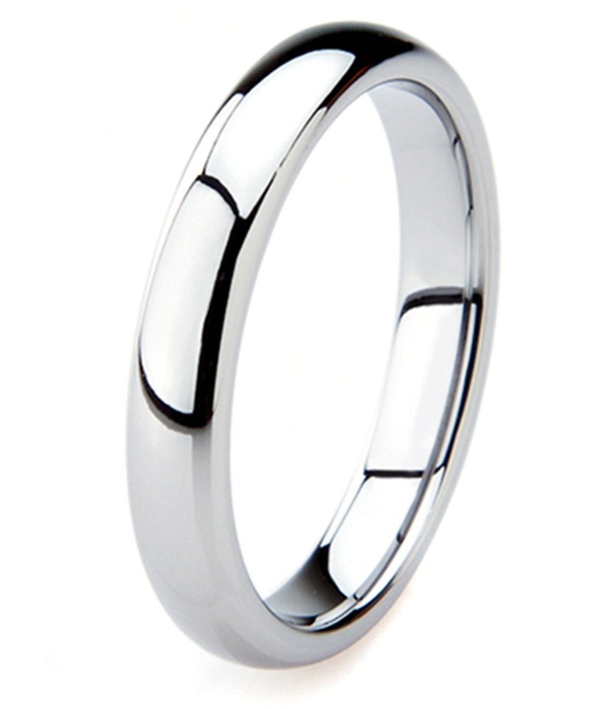 King Will BASIC 4mm Classic Polished Comfort Fit Domed Tungsten Metal Ring Wedding Band(11)