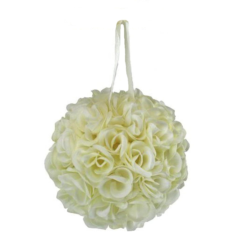 Amazon.com: Silk Kissing Pomander Flowers Ball Wedding Decoration ...