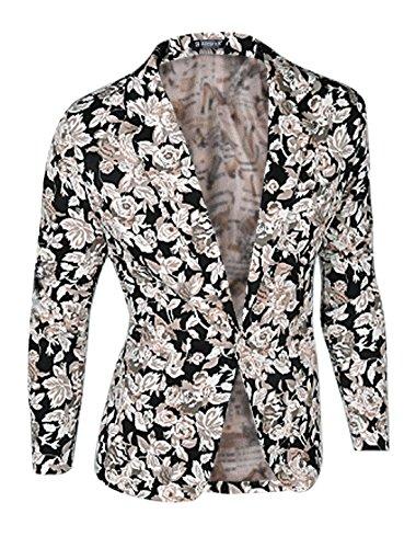 Floral Print Coat - 7