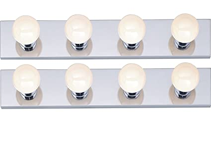 Amazon.com: 4-Light Interior Bath Bar (Chrome, 2-Pack): Home Improvement