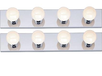 bath bar light. 4-Light Interior Bath Bar (Chrome, 2-Pack) Light