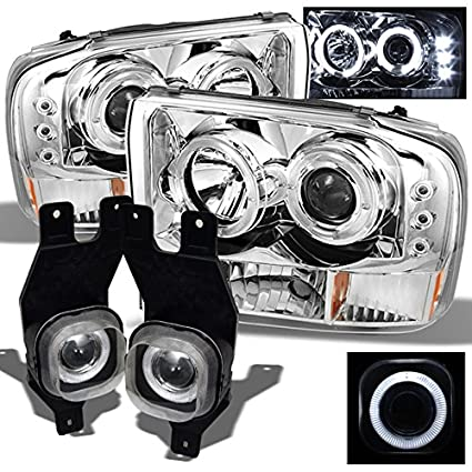 99 - 04 F250 F350 F450 F550 Super Duty doble Halo Proyector LED ...