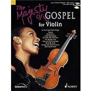 Schott The Majesty of Gospel for Violin Book & CD