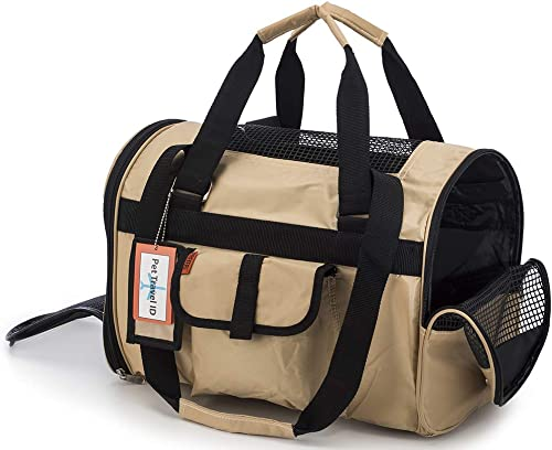 Prefer Pets 566 Jet Carrier for Pets Khaki – Airline Approved, Perfect for Small Animals, Dogs and Cats