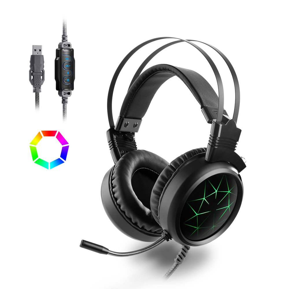 Redgiants Active Noise Cancelling Headphones Bluetooth Headphones Gaming Headset Stereo PC Gaming Headset Over Ear Comfortable Protein Earpads,