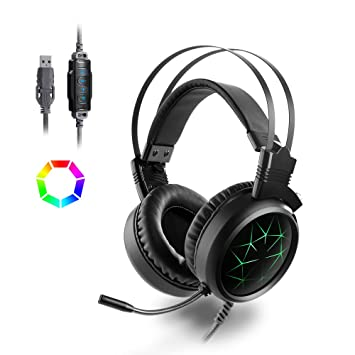 Stereo Gaming Headset With Mic LED Light MAD GIGA 71 Sound Headphones Stealth Microphone For PC Computer Laptop And Smart Phone