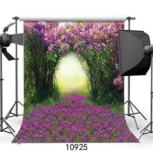 SJOLOON 5X7ft Spring Scenery Vinyl Photographic Background Flowers Backdrop Newborn Children Photo Background studio prop 10925 - Photography Spring